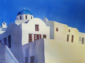 Santorini Shadows